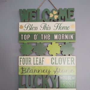 WELCOME Wall/Door St.Patricks Day-Bless This Home